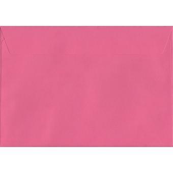 Flamant rose Peel/sceau C4/A4 couleur rose enveloppes. Papier certifié FSC de luxe de 120 g/m². 229 mm x 324 mm. enveloppe de Style portefeuille.