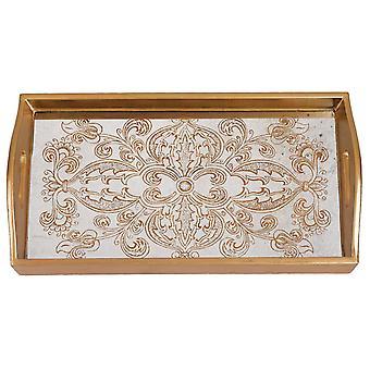 Manta gold rect tray 12x7