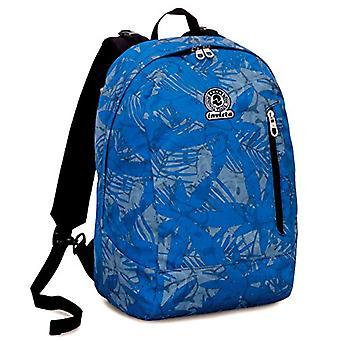 Backpack 2in1 Reversible Invicta Twist - LEAVES - Blue - 26 Lt - Fantasy - United Color