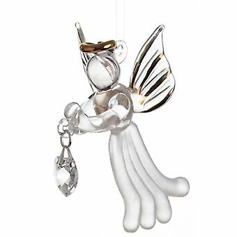 Clear Crystal Loving Angel with Swarovski Crystal in Gift Box