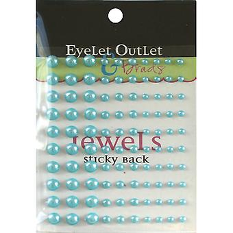 Bling Self Adhesive Pearls Multi Size 100 Pkg Blue Eob3 Blu