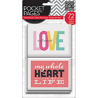 Me & My Big Ideas Pocket Pages Themed Cards 72Pcs Love Mmbi Tpc 6