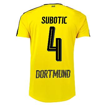 2016-17 Borussia Dortmund Home Shirt (Subotic 4)