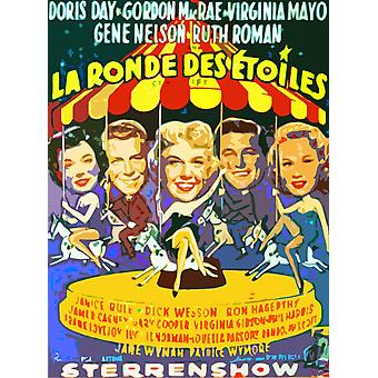 Starlift From Left Ruth Roman Gene Nelson Doris Day Gordon Macrae Virginia Mayo 1951 Movie Poster Masterprint