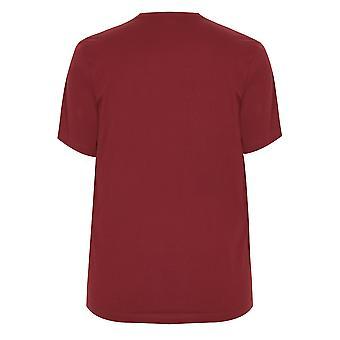 BadRhino Burgund Rundhals Basic T-Shirt