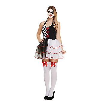 Halloween vuxna kvinnors onda Jester Fancy Dress kostym