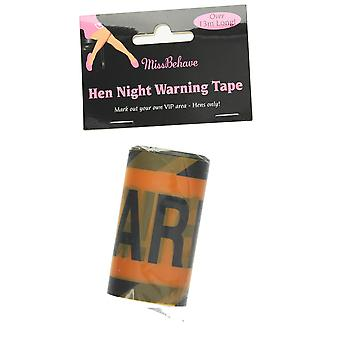 Hen Night 13 Warning Tape Hen Party Accessory