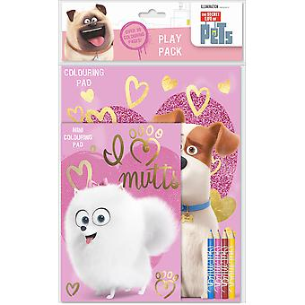 The Secret Life of Pets Play Pack Colouring Pads