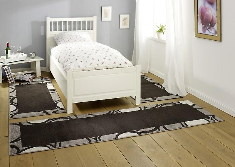 Surround de lit Design Bacara | Dark brown/gris/crème 3teilig