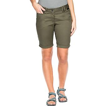 Jack Wolfskin Womens Liberty Shorts Burnt Olive (UK Size 38)