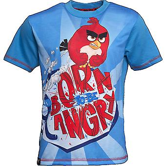 BORN TO BE ANGRY | ANGRY BIRDS MOVIE | Official Licensed | Angry Bird T-Shirt | Age 5-6