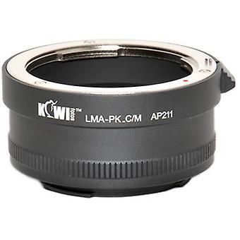 KIWIFOTOS Lens Mount Adapter: Giver mulighed for Pentax K-Mount bajonet linser bruges på enhver Canon EOS EF-M mount mirrorless kamera (EOS-M)