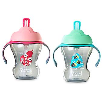 Tommee Tippee Glass With Straw Child Easy Drink. + 6 Months
