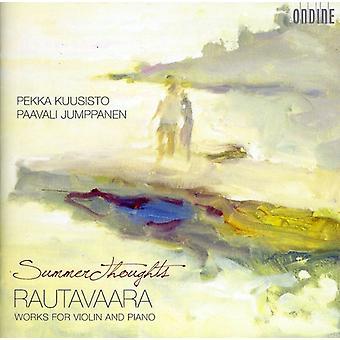 E. Rautavaara - sommer tanker: Rautavaara værker for Violin og klaver [CD] USA import