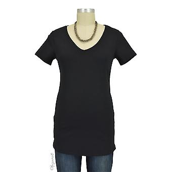 Must- Have Short Sleeve V-Neck Maternity Tee