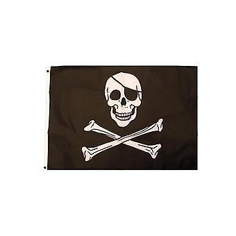 Jolly Roger Piracka Flaga czaszka i skrzyżowane piszczele flaga 92x61cm