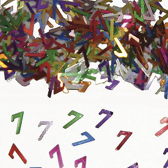 Tischkonfetti Zahl 7 Deko Konfetti Geburtstag Party