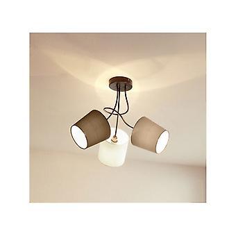 Eglo Funky Ceiling Light Of 3 Fabric Shades