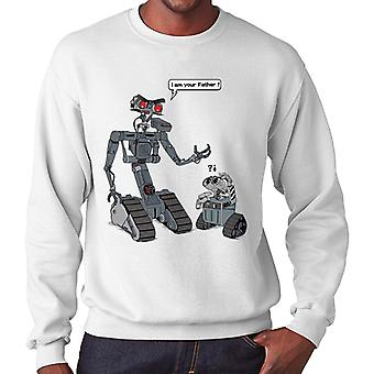 I Am Yor Father Number Johnny 5 Wall E Short Circuit Men's Sweatshirt