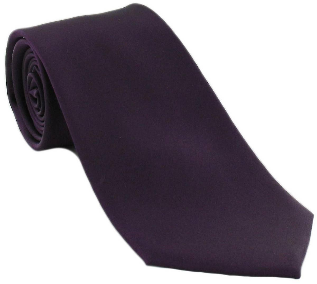 Michelsons of London Plain Silk Tie - Purple