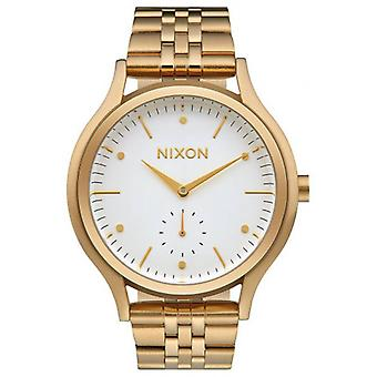 Nixon de Sala Watch - goud/wit