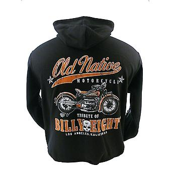 Billy Eight - OLD NATIVE - Mens Hoodie - Black