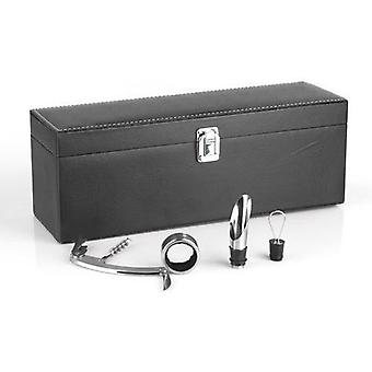 Bigbuy Wine Case con accessori Summum Sommelier (4 pezzi)