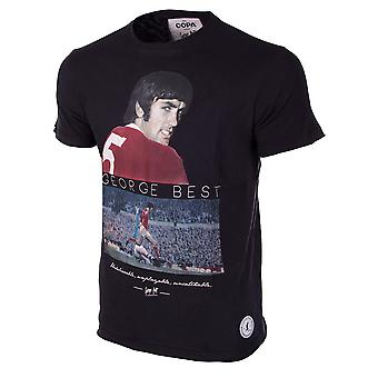 George Best United T-Shirt (sort)