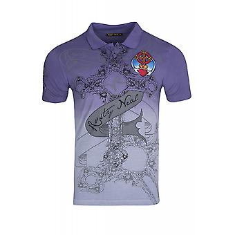 RUSTY NEAL heart shirt men's T-Shirt violet in transition