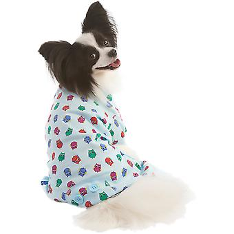 Owl Print Dog Pj's-Blue Large 200336