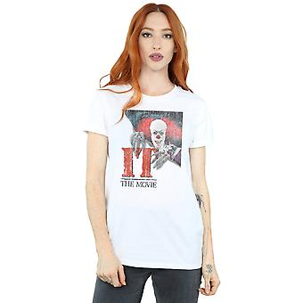 IT Women's Distressed Poster Boyfriend Fit T-Shirt