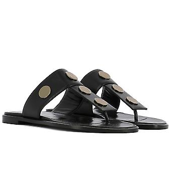Pierre Hardy women's slippers in black Leather