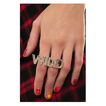 The Fashion Bible Wild Double Finger Ring In Silver