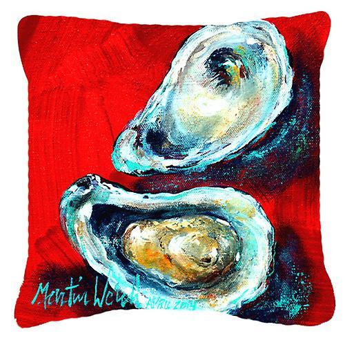 Carolines trésors MW1149PW1818 ouvrir l'huître toile tissu oreiller décoratif