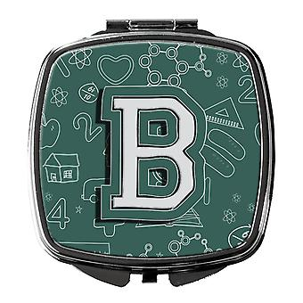 Carolines Treasures  CJ2010-BSCM Letter B Back to School Initial Compact Mirror