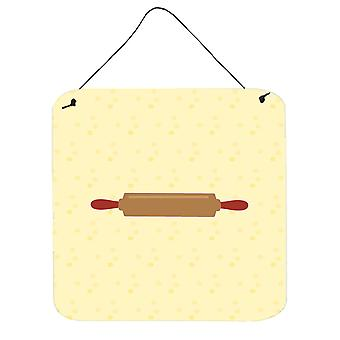 Rolling Pin on Yellow Wall or Door Hanging Prints
