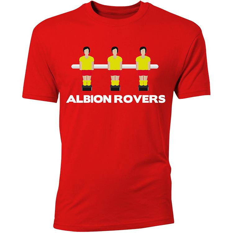 Albion Rovers tafel voetbal T-Shirt (rood)