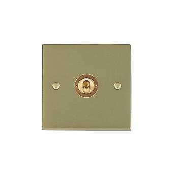Hamilton Litestat Cheriton Victorian Satin Brass 1g 10AX PTM/PTB Ret Toggle SB