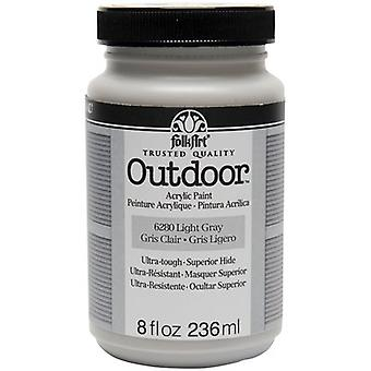 FolkArt Outdoor Paint 8oz-Light Gray FAO8-6280