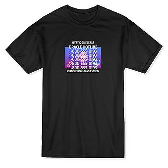 Oracle Hotline Mystic Crystals Oracle Society Men's T-shirt
