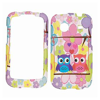 Unlimited Cellular Snap-On Case for ZTE Whirl Z660G (Two Owls on Flower Backgrou