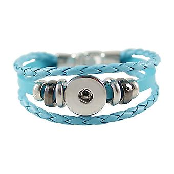 Leather Bracelet For Click Buttons Kb0829-bl