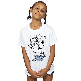 Disney Girls Frozen Elsa Sketch T-Shirt