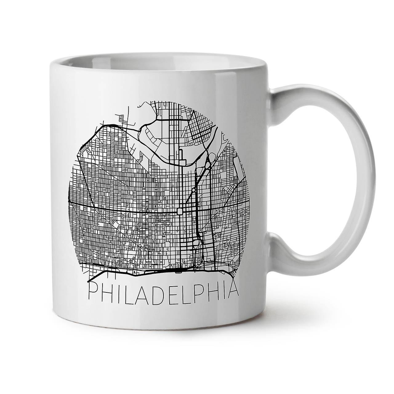PhiladelphieVille Blanc 11 OzWellcoda Tasse Café Thé Nouvel Céramique 53qj4ARLc