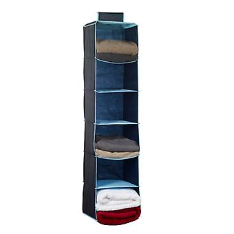Russel Six Pocket Wardrobe Organiser, Navy