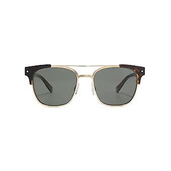 Polaroid Metal Combo Square Sunglasses In Dark Havana Polarised