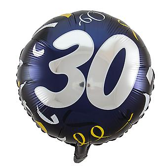 Foil balloon birthday number 30 day about 45 cm