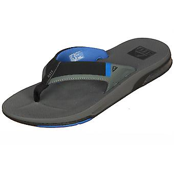 Reef Water Friendly Mens Sandals with Bottle Opener ~ Fanning Low grey blue