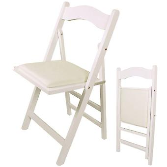 SoBuy Home Office Folding Wooden Chair,FST06-W, White