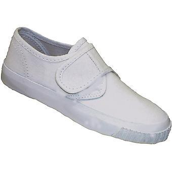 Mirak Girls 99248 Fastening Plimsoll Sneaker Trainer White (Lge)